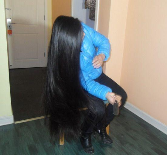 Aidebianyuan Cut Butt Length Long Hair To Short No 116