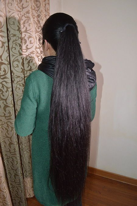 Cut Thigh Length Thick Long Hair Longhaircut Cn