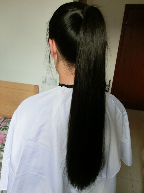 yisi cut 55cm long hair to bob-NO.2043