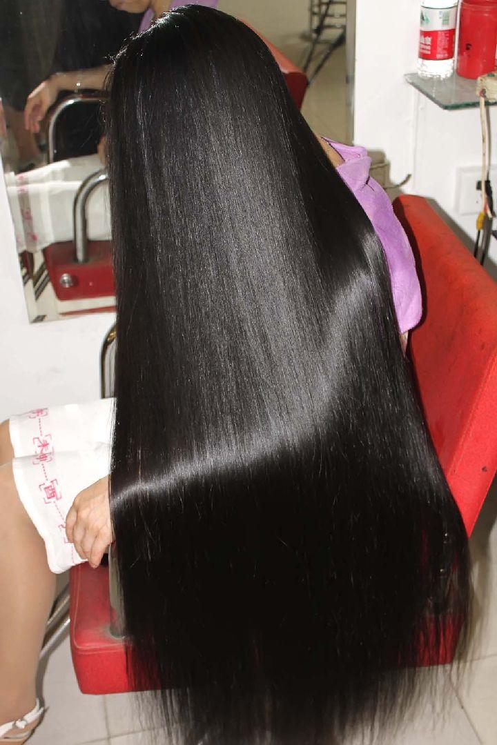 Face 114 Video Of Cut 100cm Long Hair Longhaircut Cn