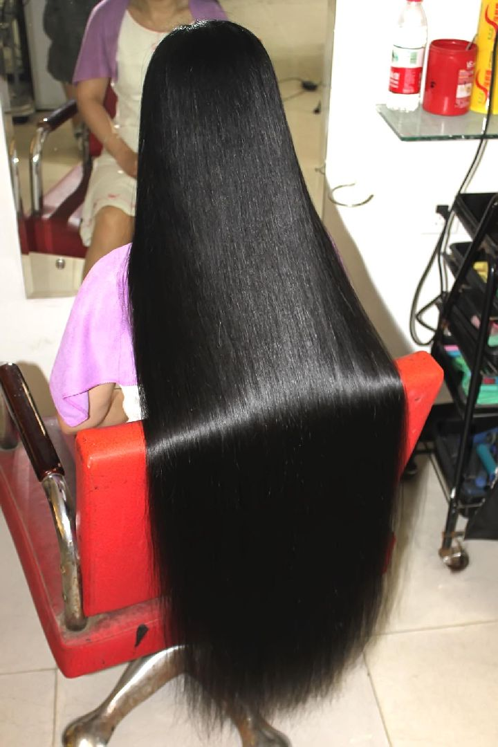 Face 114 Video Of Cut 100cm Long Hair Longhaircut Cn
